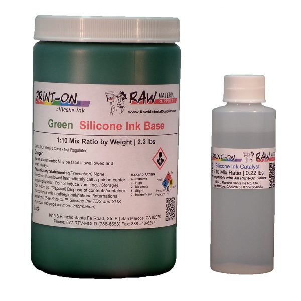 green silicone ink