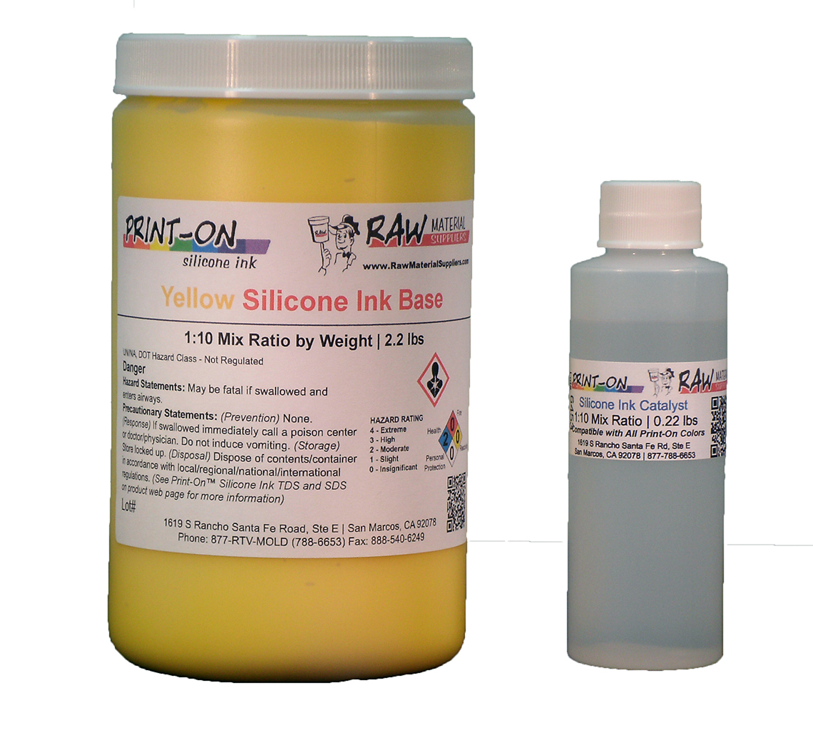 yellow silicone ink